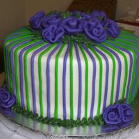 Angeliqua's Cake Another view of her cake - this is all actually a really pretty purple but for some reason looks blue in photos. Thanks crazy4cupcakes and...