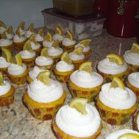 Lemon Margarita Cupcakes I made big ones and little ones.... they were ALL gone within two hours!