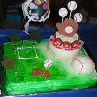 My Very First Cake Ever This is the cake that started it all... I made this for my nephew Jay's birthday - who happens to LOVE baseball. I caught the cake-...