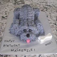 "3D Dog My daughters best friend wanted a cake to look like her dog. Thank-You ""justfrosting"" for the great tutorial on how to make this..."