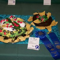 Nachos And Salsa My 8 year old daugther's 1st place winning cake at the state fair!!!!