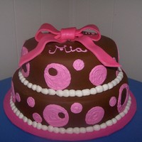 Girl Baby Shower Cake   girl baby shower cake with polka dots
