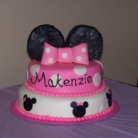 Minnie Cake   Minnie Cake with ears