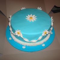 Wilton Course 4   Course 4 first cake. WASC with pudding filling. MFF and MFF/gumpaste decorations