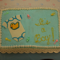 It's A Boy! I made this for a friend. :)