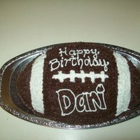 Football Birthday Cake!   I made this cake for my Sister's birthday! Thanks for looking! :)