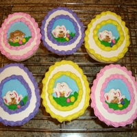 Panoramic Easter Eggs I made these for a friend who wanted to give something special to her nieces. Sugar cookies decorated with royal icing