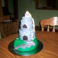 Repunzil Castle Cake   a fairy tale cake for my daughter's 7th bday