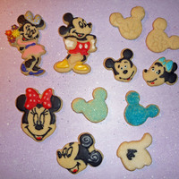 Mickey Mouse Collection  I did these cookies today for my cookie decorating buddy Chelsea's 11th birthday party. It was the first time I used the cutters, they...