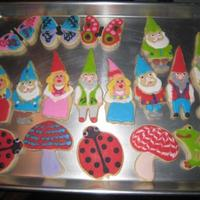 Gnomes  I did these Gnome cookies last summer. The girl and guy gnome in the middle left row are made with Hammer Song cookie cutters (love them,...