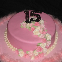 10 Inch Round Quinceanera Cake The Cake Is A Vanilla Almond Cake Filled With Butter Cream And Covered In Mmf The 15 Is Gumpaste And Is Acc... 10 inch round Quinceañera cake, the cake is a vanilla almond cake filled with butter cream and covered in MMF, the 15 is...