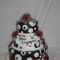 Black And White Engagement Black and White engagement cake, this was for my Aunt so I got to pick the design and and new she would love black and white. The whole...