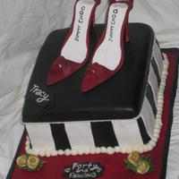 Jimmy Choo Shoe Box My first shoe cake! I am pretty happy with how the shoes turned out, not super happy with the box but i think it looks pretty good. The...