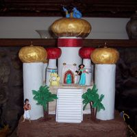 Jasmine's Father's Castle From Aladdin Modeled from the castle seen on the Storybook Boat Ride at Disneyland.