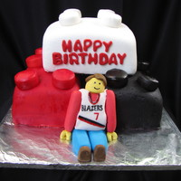 Trial Blazers Lego Cake A birthday boy requested for his favorite basketball team, Portland Trial Blazers and Lego cake for his 8th birthday. It was a chocolate...
