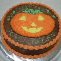 Pumpkin_Cake.jpg Chocolate cake with raspberry filling and chocolate frosting.