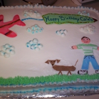Airplane   buttercream with fondant accents, my grandson's 10th b'day