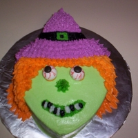 Witch Cake all buttercream, except eyeballs :-)