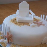 Beach Cake With Aridonrack Chair