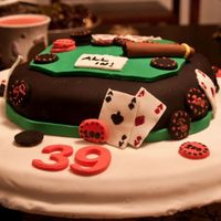Poker Table Cake This is my third sugar paste cake. Ive made it for my husband birthday