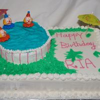 Pool Party Cake Decorating this cake was a lot of fun for my daughter's third birthday party