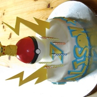 Pikachu Pokemon Thanks for the inspiration here for this cake. I didn't even know who Pikachu was before my daughter asked me for this cake for her...