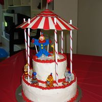Under The Big Top  This was my first decorated cake. It was for my sons 1st Birthday in 2008. I used a Duncan Hines Devil's Food Cake mix which turned...