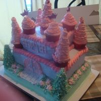 First Castle Cake Attempt!! Experimental fun!! Learned alot :D