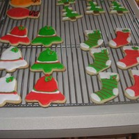 Misc. Christmas Cookies Am new to decorating with RI. Would appreciate any advice or how to's to improve on this. These are NFSC with RI decoration. Melted...