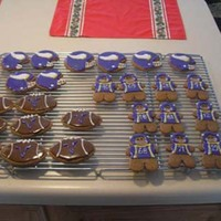 Minnesota Vikings Cookies Skol My Son and DIL were stranded here with us because of the snow so I made these for her to take to her Boss as a belated Christmas Gift, he...