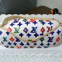 Louis Vuitton Made for a friend who loves LV, handpainted everything