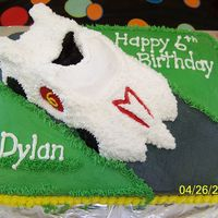 Speed Racer All Butter Cream Icing. Used Wilton volkswagon pan for car.