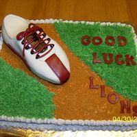 Girls Track Team Cake Butter cream Icing and Marshmallow Fondant for the shoe.