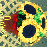 Sunflower Cupcake Bouquet again, more playing around with bouquets