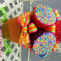 Sprinkles Cupcake Bouquet :) playing around with cupcake bouquets ... i sold them at my garage sale :)