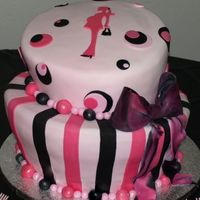Topsy Turvy Baby Shower Cake This was a choclate ovrload cake, dark chocolate with chocolate chips and ganache filling.