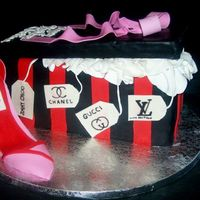 Shoe Box Cake first shoe box cake