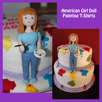 Americangirl Doll Painting T-Shirts My first paid cake order! Request was for a cake that had an AmerianGirl Doll on it (doll was to have shoulder length hair, blue eyes and...