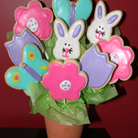 Easter Cookie Bouquet After seeing many great cookie bouquets here on CC and online I decided to try some this year instead of making an Easter cake! Had lots of...