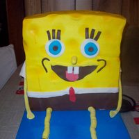 Spongebob This was for my DD's 5th birthday. He has same size tiers, two of cherry wasc and one of wasc with rainbow chips.TFL