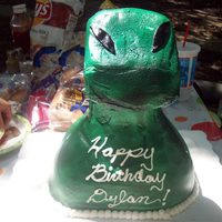 Lizard Man All chocolate cake with chocolate fudge filling.