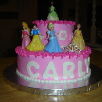 Tiara Princess Cake   Made this for a 4 year old princess lover...all bc. TFL.