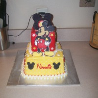 Mickey Mouse 60Th Birthday Cake This is a White chocolate cake with Raspberry Cream Cheese filling, buttercream frosting. Thank you to CC and it's members as this...