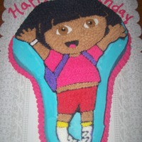 Dora Cake Chocolate Dora cake with buttercream