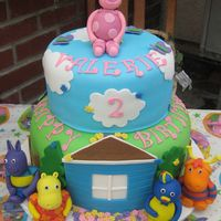 The Backyardigans Fondant Cake I made this 2 tier cake for my niece's 2nd birthday the house is gumpaste and fondant and the characters are all fondant.