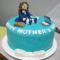 Mother's Day Fondant Cake made all the figurines out of fondant & gumpaste