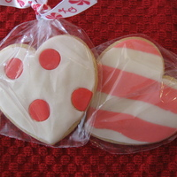 Valentine Cookies This were butter cookies covered with fondant