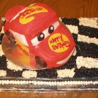 Lighting Mcqueen This is my first time ever making a cake really... I've done the box mixes but wanted to do this for my nephews 2nd birthday.. The...