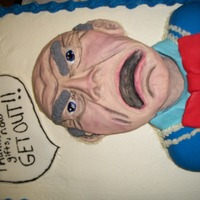 Jeff Dunham's Puppet Walter This cake was made for a 12 year old boy whose favorite comedian is Jeff Dunham, I made Walter out of colored fondant and painted in the...