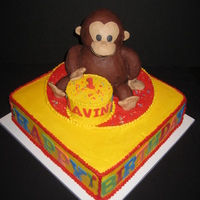 Monkey Birthday Made to match an invitation for a child's birthday party. I was unhappy with how the large monkey turned out, but I did my best. I...